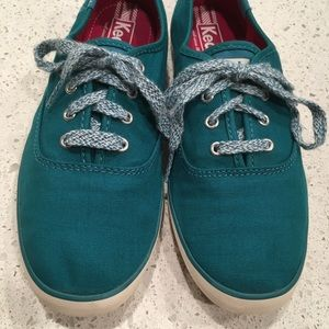 Keds sneakers, turquoise, women's 7